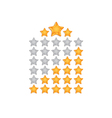 rating star gold and gray vector image