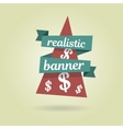 Realistic curved banner Special offer vector image vector image