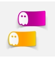 realistic design element ghost vector image