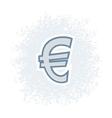 Retro Euro Icon vector image vector image