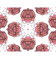 seamless pattern with pink lotus element for vector image vector image