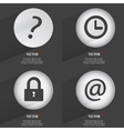 Set of one-color web buttons flat design Simple vector image