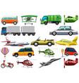 set of transportation vehicle vector image