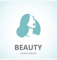 silhouette a woman in profile template icon or vector image vector image