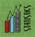 statistics chart bar financial business vector image