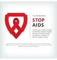 stop aids flat symbol icon vector image vector image