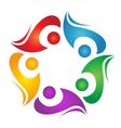 Teamwork diversity logo vector image vector image
