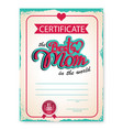 template of the certificate diploma vector image vector image