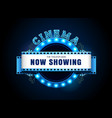 theater sign neon retro circle style vector image vector image