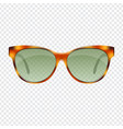 vintage sun glasses vector image