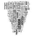 worksite wellness text word cloud concept vector image vector image