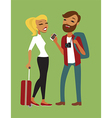 Young couple travelling vector image