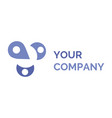 your company name and concept logotype isolated vector image