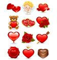 valentines icons vector image