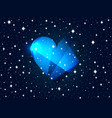 valentines day background with heart and stars vector image