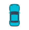 modern flat blue car vector image
