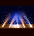 a theater stage with a magic light effect vector image vector image
