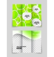 Apple brochure vector image vector image