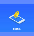 at email icon symbol vector image