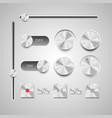 basic rgb set of the detailed ui elements vector image