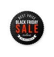 Black Friday sale emblem vector image vector image