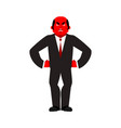 boss angry red businessman evil business men vector image vector image