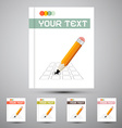 Brochure Cover Design Template with Pencil Check vector image vector image