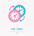 changing of time zones symbol vector image
