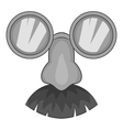 Clown face icon gray monochrome style vector image