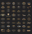 collection vintage logos and symbols vector image vector image