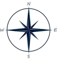 Compass rose on white background vector image vector image