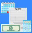 counting taxes vector image vector image