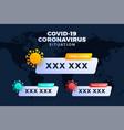 covid19-19 covid19 19 map confirmed cases cure dea vector image