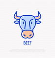 cow thin line icon modern vector image