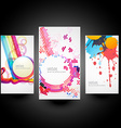 creative abstract cards vector image vector image