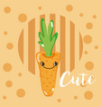 cute carrot kawaii cartoon vector image