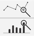 data analysis icon vector image