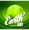 earth day with words vector image