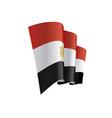 egypt flag vector image vector image