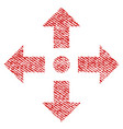 expand arrows fabric textured icon vector image vector image