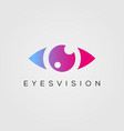 eye logo design template beauty eyes vision icon vector image