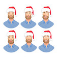 face man with beard vector image vector image