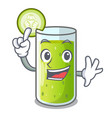 finger sweet cucumber juice isolated on mascot vector image vector image