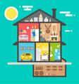 flat design house interior vector image