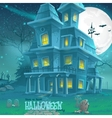 for halloween haunted house a party vector image