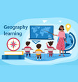 geography learning concept vector image vector image