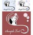 Girl advertising means of hair vector | Price: 1 Credit (USD $1)