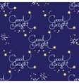 Good night seamless pattern of handwritten vector image vector image