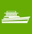 great powerboat icon green vector image vector image