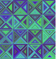 Green blue triangle mosaic background design vector image vector image